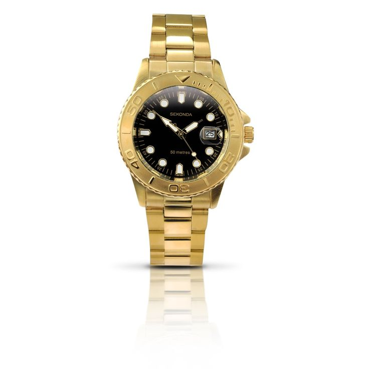 Bargain! Sekonda Men's Gold-Plated Sports Style Watch - 3131.27 £15.00. Dare you?: Goldplat Sports, Gold Plat Sports, Sports Styles, Sport Style