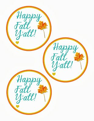 Kinzie's Kreations: Happy Fall Y'all {Free Printable}