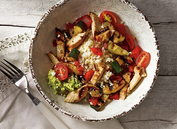 Grilled Chicken and Vegetable Bowl from Publix Aprons. Summer yum, an easy outdoor dinner. #contest