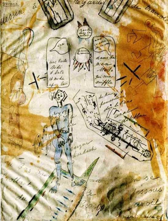 Antonin Artaud. La machine de l'être ou dessin à regarder de traviole 1946