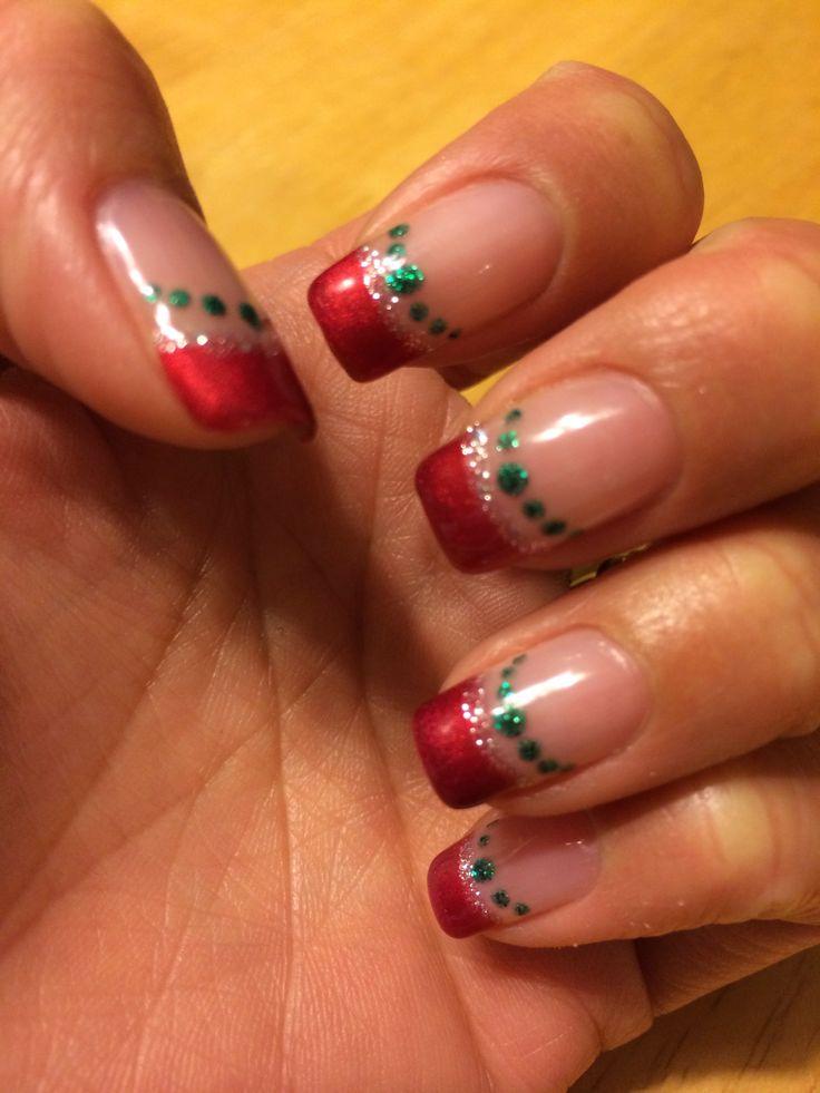 Christmas gel nail 2013