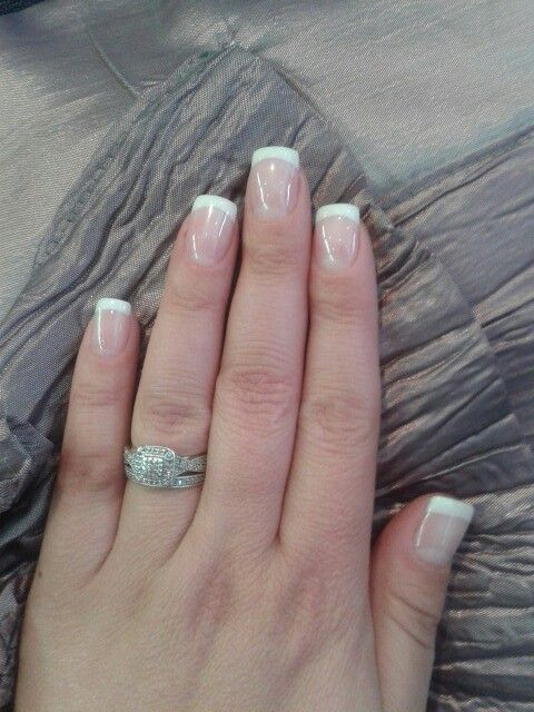 Short french acrylic on own nails!