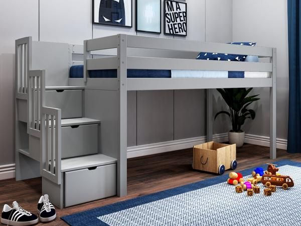 Jackpot Contemporary Low Loft Twin Beds In 2020 With Images