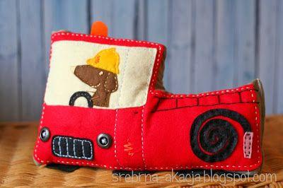 Stuffed fire truck for little boys