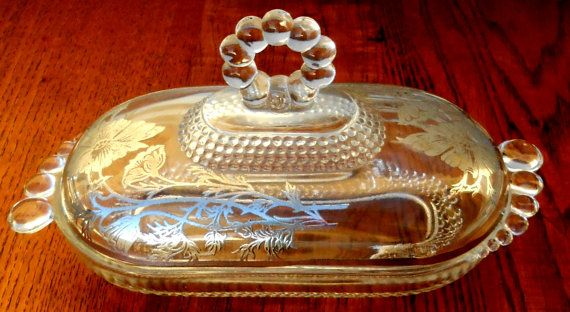 Duncan Miller Teardrop Covered Butter Silver Floral by Serge4, $24.00