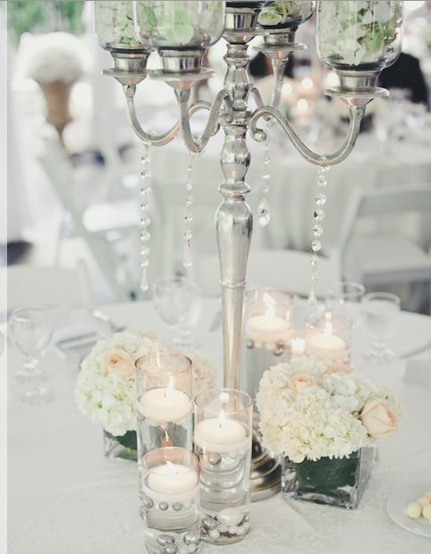 The base of candelabras will be surrounded by silver