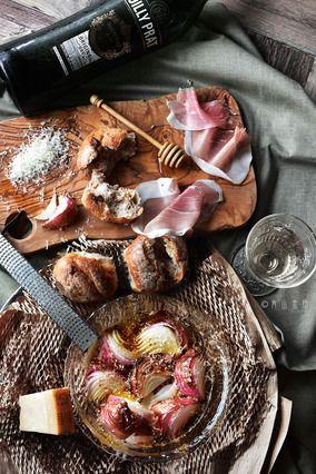 極上週末ブランチ。 赤玉ねぎのチーズ焼き レシピブログ
