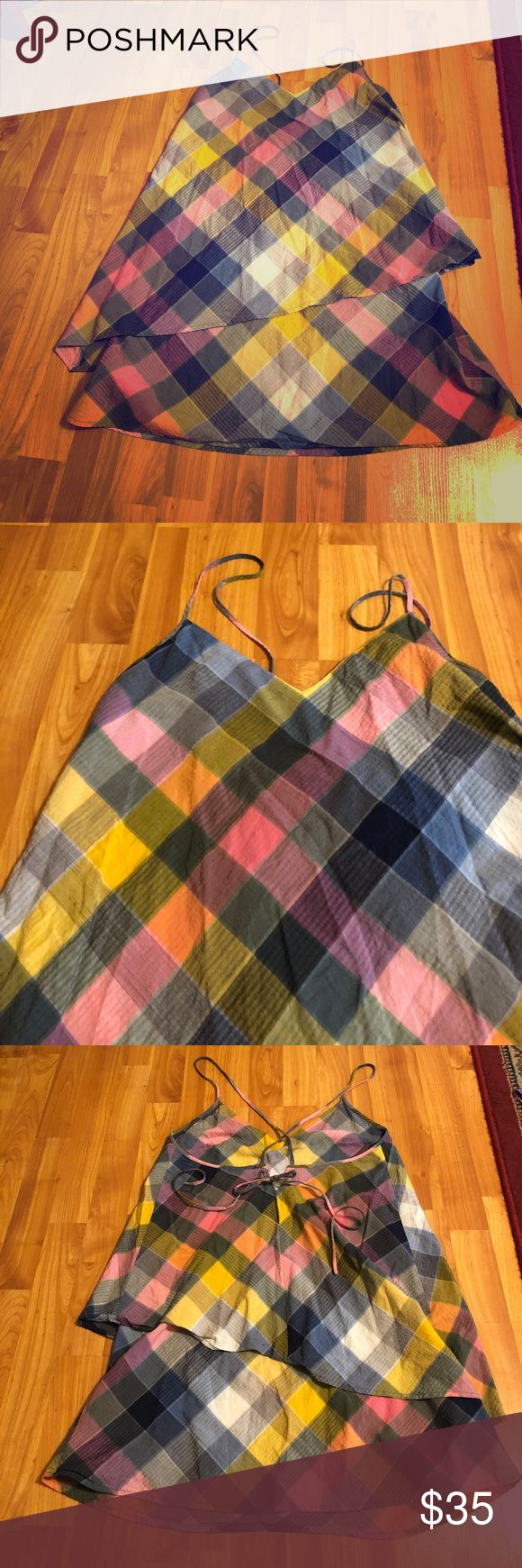 Patagonia plaid dress Super cute tiered Patagonia dress! Size 4. Perfect condition. Comes from a smoke free, dog loving home. Patagonia Dresses