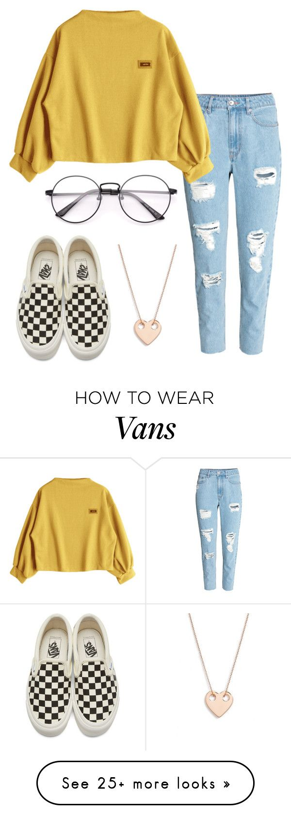 """""""#No name"""" by eemaj on Polyvore featuring H&M, Vans and Ginette NY"""