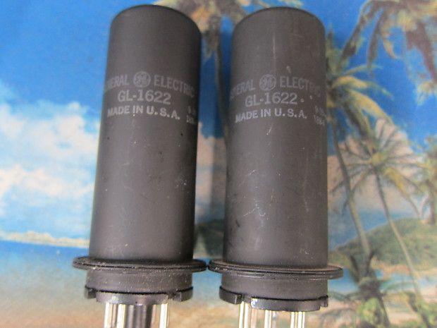 Pr Vintage Ge Gl1622 6l6 Metal S