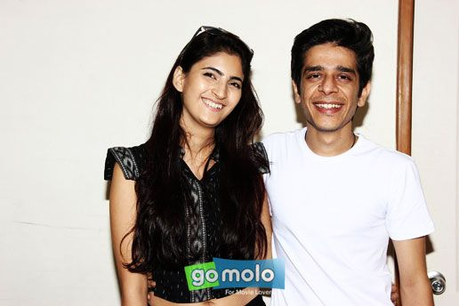 Shivani Raghuvanshi & Shashank Arora at the Press meet of Hindi movie 'Titli' at Yashraj Studios in Andheri, Mumbai