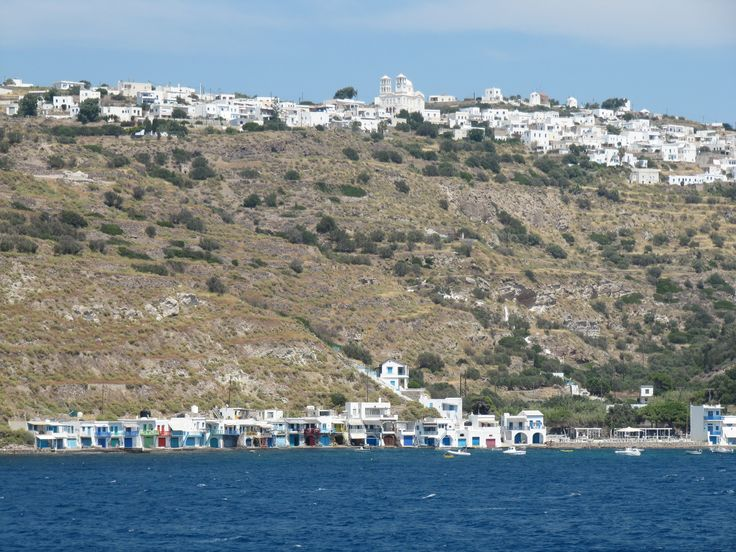View of Milos island, Greece