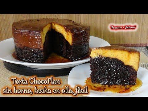 Chocoflan o torta imposible. Sin horno. ¡Receta muy fácil!