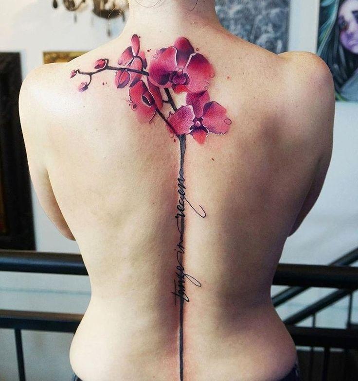 best 25 orchid tattoo ideas on pinterest shoulder tattoo orchid flower tattoos and funky tattoos. Black Bedroom Furniture Sets. Home Design Ideas