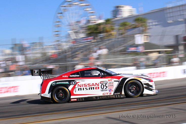 nissan gtr during the pirelli world challenge practice at the 2015 grand prix at long beach. photo credit © john grafman