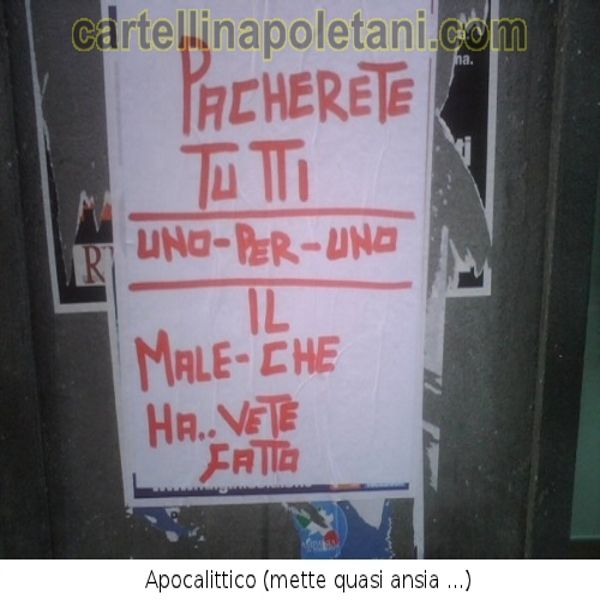 cartelli napoletani - Cartelli