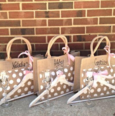 darling bridesmaid gift bags