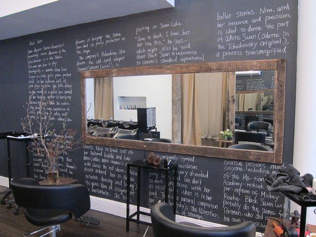 wall blackboard + mirror @ pas de deux