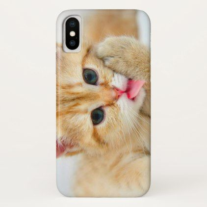 Cute Cuddly Fluffy Orange Baby Kitten iPhone X Case - baby gifts child new born gift idea diy cyo special unique design