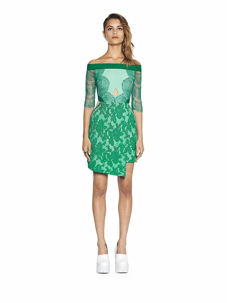 color de la suerte http://www.threefloorfashion.com/dresses/lace-is-more-dress.html