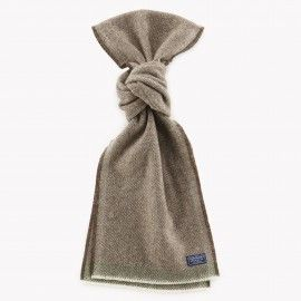 Herringbone Wool Scarf / Mahogany Brown | Red Rolling Pin