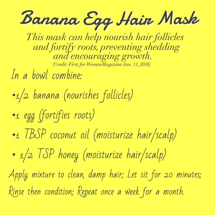 Banana Egg Hair Mask to help prevent hair shed