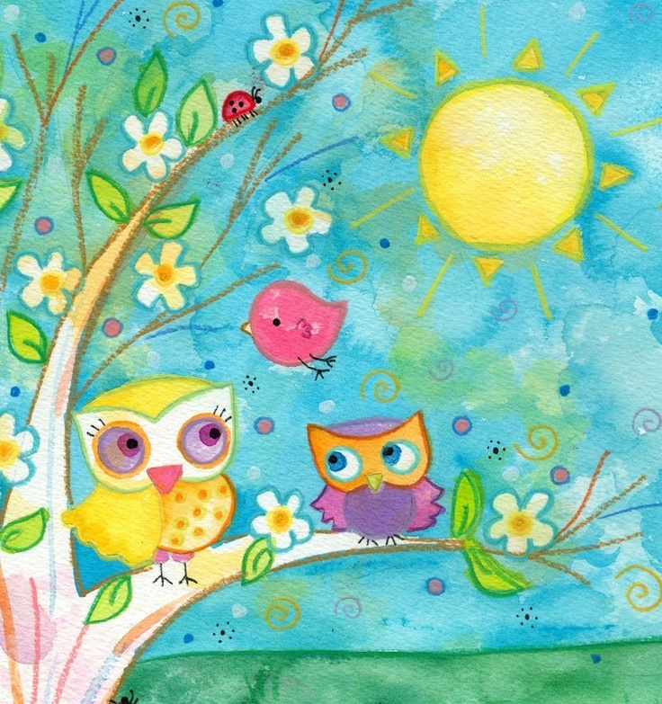 Forever Friends by Lauren Alexander, nice bridge piece to include a few of my cute little chick pieces with my owls.