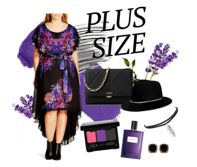 """""""Fall Look: Plus Size Dresses"""" by kharismabelle on Polyvore featuring Fraiche, Bobbi Brown Cosmetics, City Chic, Phillip Gavriel, Michael Kors, Janessa Leone and Molinard"""