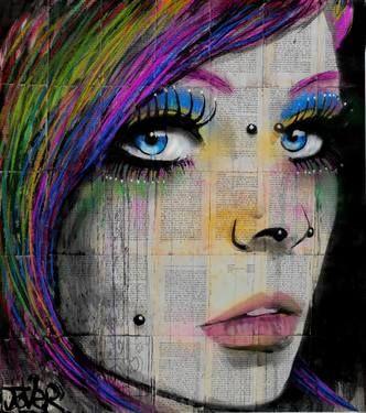 "Saatchi Art Artist Loui Jover; Drawing, ""iska"" #art"