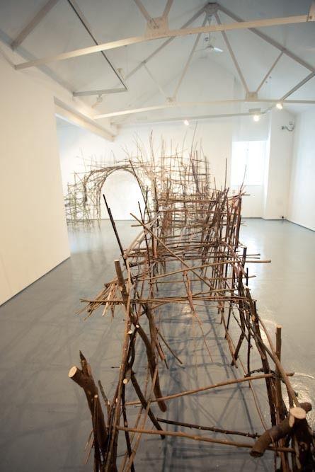 Tim Johnson - Sculpture - Jetty, 'Piers & Bridges'Project' Quay Arts, Isle of Wight April2012