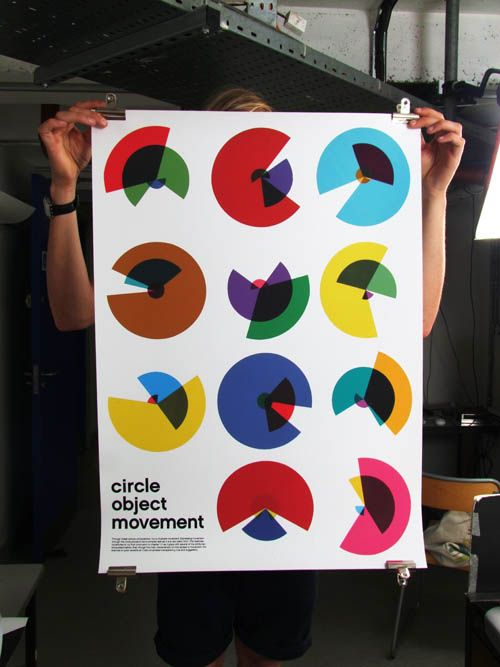 Circle Object Movement. Sometimes, Pie charts & Arcs can be pretty! #CMYK #GenerativeArt