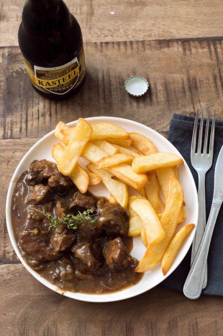 Recept voor Vlaams stoofvlees met friet - De Wereld op je Bord