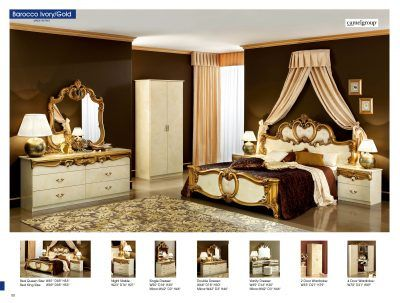 Bedroom  Furniture Classic Bedrooms Barocco Ivory w/Gold, Camelgroup Italy for sale at http://www.kamkorfurniture.ca