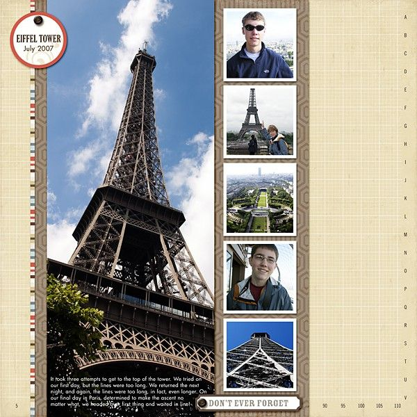 De 94 beste bildene om scrapbook pages for europe trip p - Scrapbooking paris boutique ...