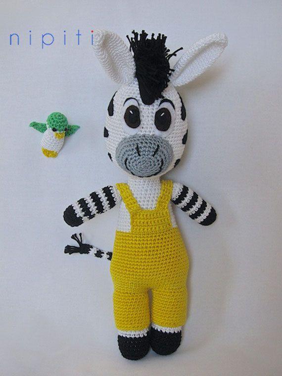 Crochet Zebra : Crochet Zebra Zou Fofuras Pinterest Crochet Zebra, Zebras and ...