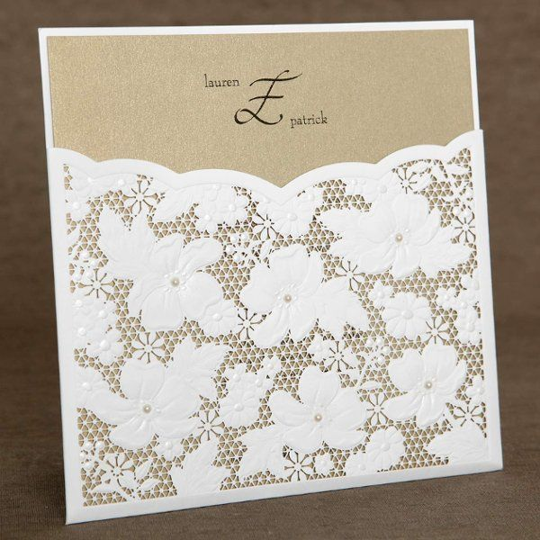 Invitations Wedding Invitations: Cards Stockings, Ideas, Elegant Invitations, Wedding Invitations, Laser Cut, Elegant Pockets, Invitations Photo, Pearls Elegant, Invitations Weddingidea