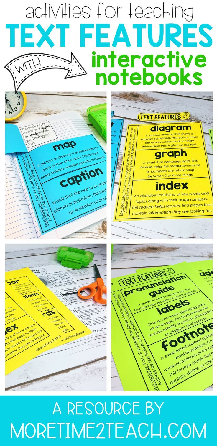 Text Features help readers determine what's important. So what better way to teach your students all about text features than with engaging interactive notebook activities.