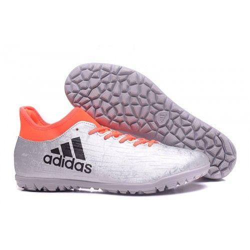 Ny Adidas X 16.3 TF Fotballsko For Menn Sølv oransje Svart, Adidas X fotballsko til herre