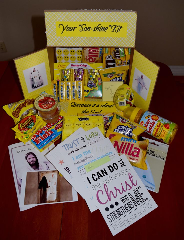 LDS Missionary Easter Box for son in Oklahoma City Mission, package