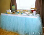 Table Skirt Attachment Option ELASTIC How to by TulleSkirtShop