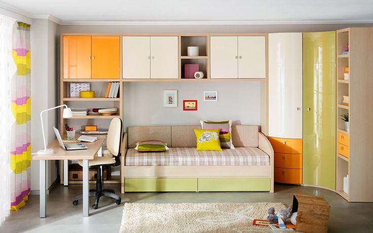 Комплект мебели для комнаты подростка | Дизайн интерьера современной детской