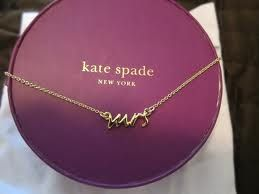 kate spade mrs necklace- the perfect wedding present