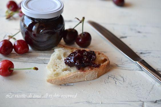 marmellata ciliegie,marmellata di ciliegie bimby,marmellata fatta in casa,le ricette di tina