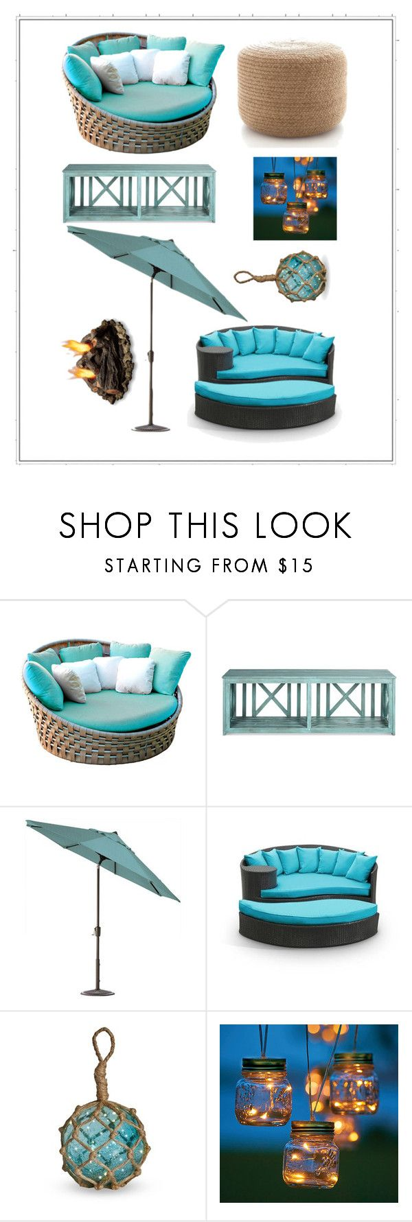 """""""Blue Outdoors"""" by julia3214 ❤ liked on Polyvore featuring interior, interiors, interior design, home, home decor, interior decorating, Skyline, Home Decorators Collection, Shoreline and Improvements"""