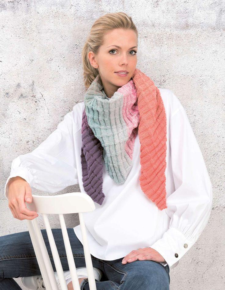 Strickanleitung Dreieckstuch aus Creative Wool Dégradé Super 6 | Wolle Rödel – Tücher