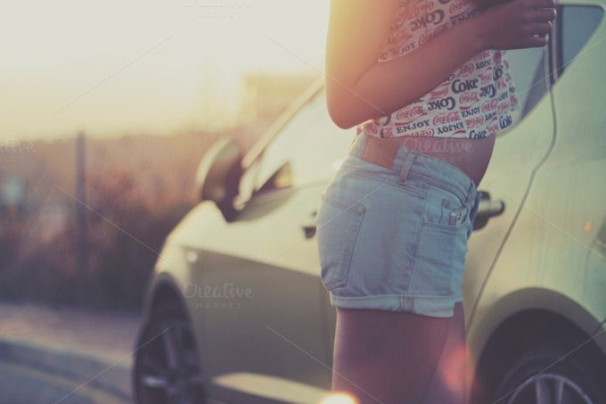Check out Car with girl by Jan Vašek on Creative Market