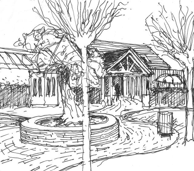 Proposed landscape design to main entrance of The Pavilion Garden Center, Ballygarvan, Co,Cork