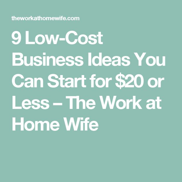 Best Low Cost Business Ideas Ideas On Pinterest Business