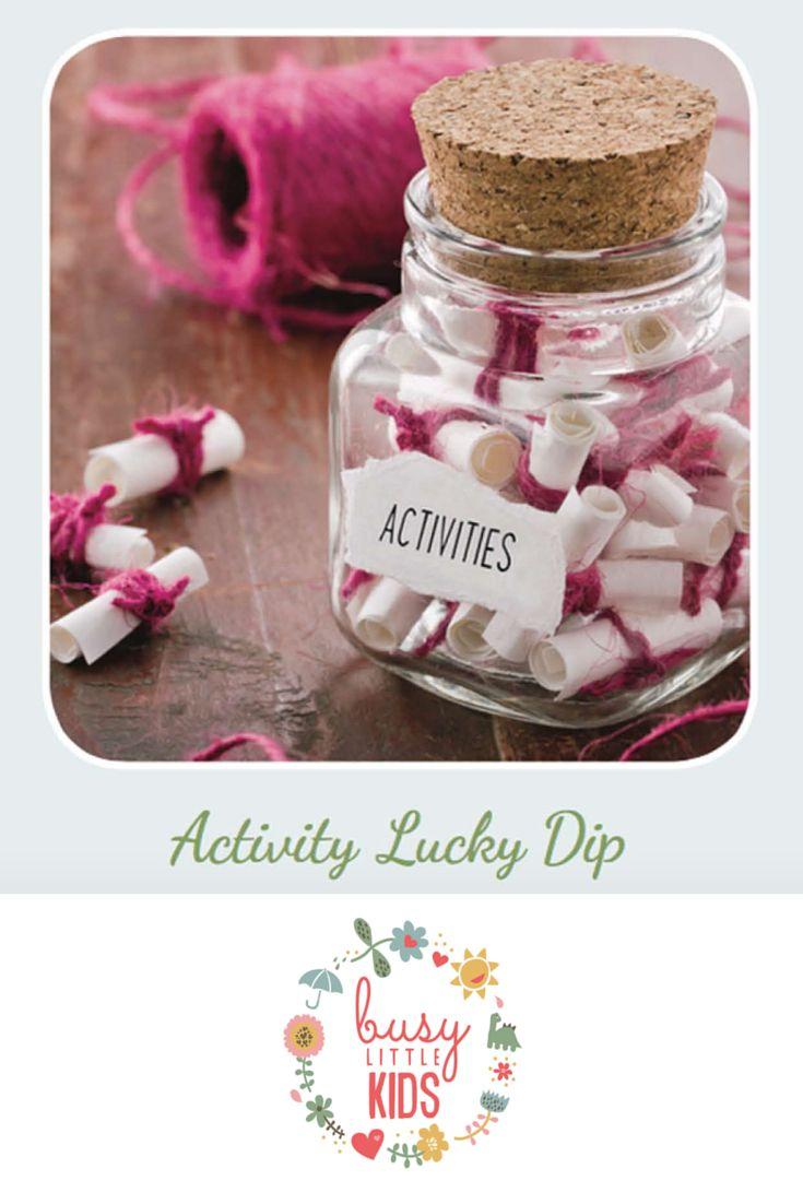 Fun, simple, easy rainy day kids activity - Activity Lucky Dip