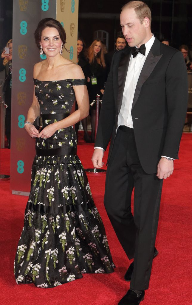 Herttuatar Catherine ja prinssi William olivat illan kunniavieraat BAFTA-gaalassa.